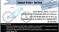 The Timmins Police Services Board Annual Police Auction will take place Saturday, May 13, 2017 at the Timmins Police Service […]