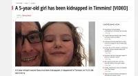 The Timmins Police Service is issuing a Public Advisory in regards to an internet based fictitious report of an alleged kidnapping occurrence involving a 5 […]