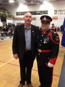 Timmins Pow wow - Nick and Mayor Laughren