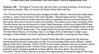 This year, the Ontario Police Memorial Foundation (OPMF) is not able to organize a gathering at the Police Memorial in Toronto. However, the police community […]